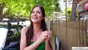POV nailing in the company of brunette Little Caprice