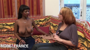 Cumshot at the casting exotic chick ebony