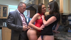 Threesome hairy british in HD