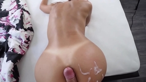 Pussy fucking accompanied by big ass amateur
