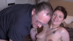 Young french brunette flashing HD