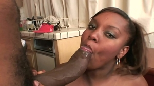 Juicy ebony plumber gets a buzz out of ramming hard