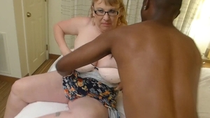 Big tits granny interracial fucking in HD