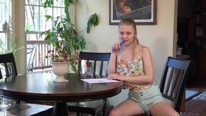 Skinny & small tits teen Lily Rader fetish toys solo