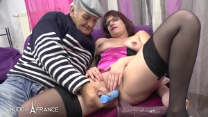 Nude french loves rough nailing in tight stockings HD