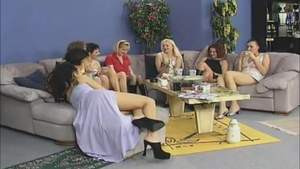 Hottest european girl gets a buzz out of gangbang in HD