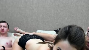 Threesome on live cam accompanied by super hot amateur