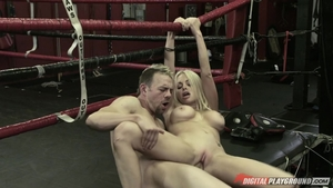 Huge boobs blonde babe Jesse Jane feels up to loud sex in HD