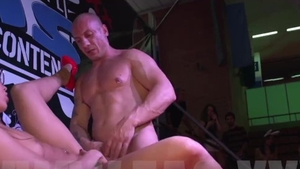 Gangbang at the party in HD