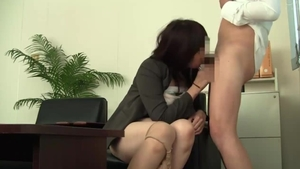 Loud sex in company with japanese mature