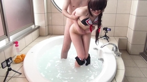 Japanese feels the need for cosplay hard pounding in HD