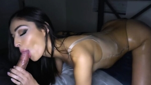 Pussy sex in company with brunette