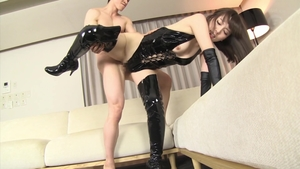BDSM in company with hairy japanese brunette Yui Hatano