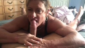 POV pussy sex starring muscle girl