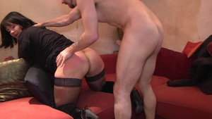 French brunette rushes ramming hard HD