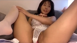 Chinese girl female orgasm solo