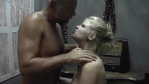 Hard pounding in company with european mature