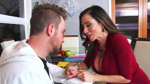 Doggy fucking together with very nice mature Ariella Ferrera