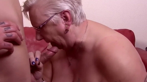 Hard pounding escorted by super hot granny