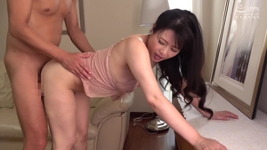 Ramming hard with hairy japanese mature