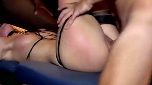 Group sex in company with small boobs french blonde hair