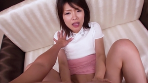 Hawt asian POV riding a dick