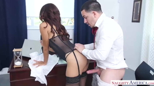 Interracial sex in office naughty ebony HD