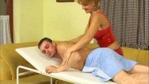 Young redhead wearing latex hardcore pussy fuck massage in HD