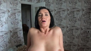 Large boobs german mature finds pleasure in raw sex HD