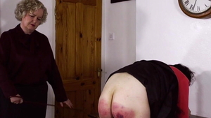 Beautiful french coed feels up to spanking in HD