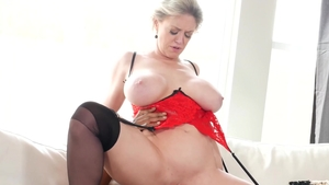 Nailing in company with big tits mature Dee Williams