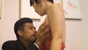 Cock sucking along with chinese female