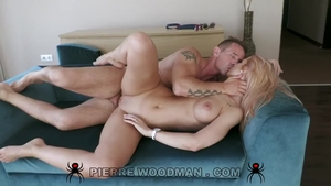Nailed rough escorted by very cute blonde
