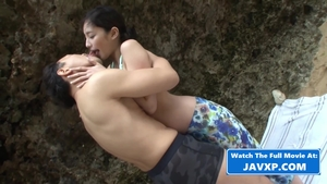 Small tits asian teen chick ramming hard outdoors in HD