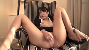 Hairy asian censored toys action in HD