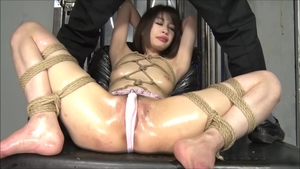 Bondage in the company of asian brunette