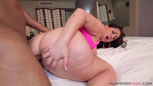 Hard slamming in company with big ass latina pawg