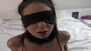 'Joanna gal And tiny Hands butthole POV plow With Blindfold'