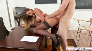 Stepmom Brooklyn Chase in nylon hard sex
