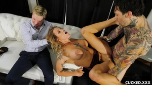 Very hot and large boobs Luna Skye fucked in the ass