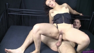 Very small tits petite czech babe creampied at casting
