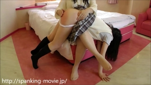 Homemade rough nailing along with asian teen