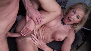 Ass fucking at castings accompanied by MILF