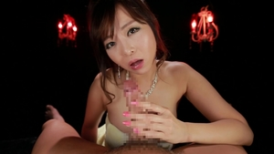 Asian brunette censored facial