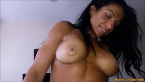 Huge tits Alexis Rain pussy eating creampied