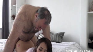 Hard nailining together with super sexy latina amateur