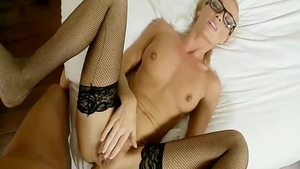 Amateur feels in need of loud sex wearing glasses
