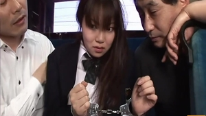 Large tits japanese schoolgirl blowjob in public