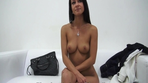 Petite czech babe gets ass licked at casting