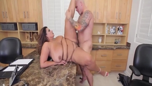 Very fat Sofia Rose throat fucking sex scene